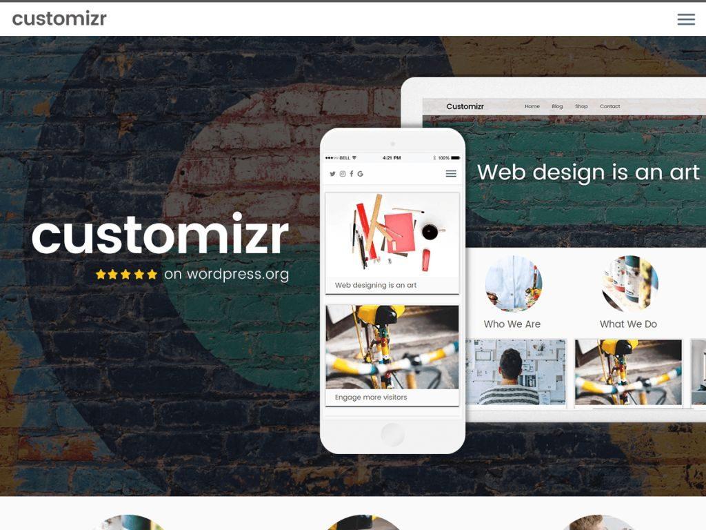 قالب customizr لمدونات الووردبريس