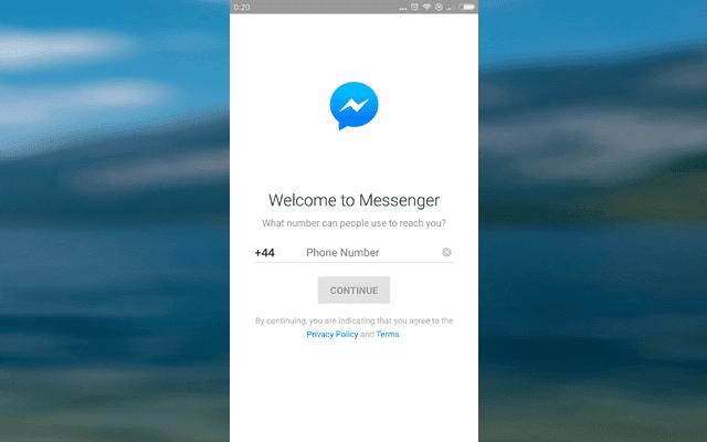 خدعة لفتح تطبيق فايسبوك ماسنجر