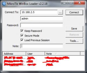 Access-via-winbox