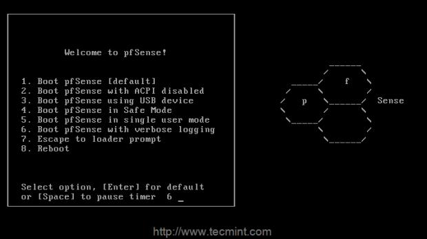 كيفية تثبيت pfSense