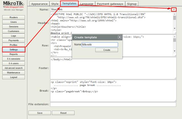 Mikrotik-Usermanager-Templates