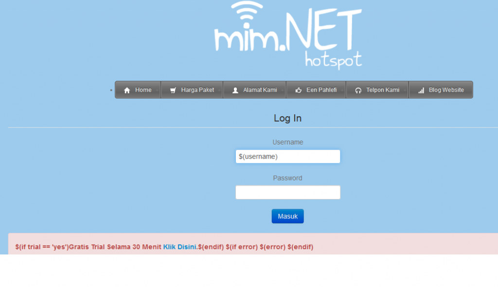 hotspot mim.net samarinda