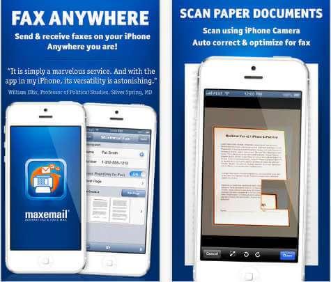 ios MaxEmail Fax
