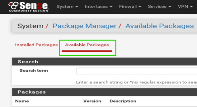 pfSense-Available-Packages