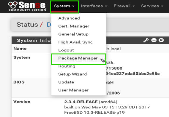 pfSense-Package-Manager