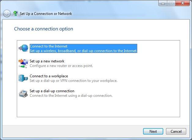 الاتصال بالإنترنت