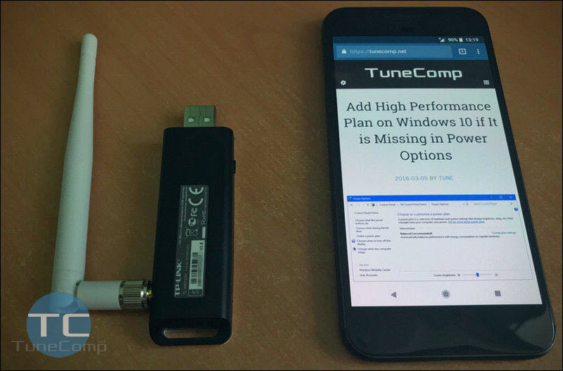 استخدم هاتف Android كمهايئ USB Wi-Fi
