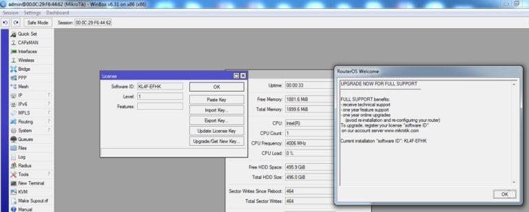 كيفية تشغيل Mikrotik 64 bit RouterOS على جهاز الكمبيوتر الخاص بك