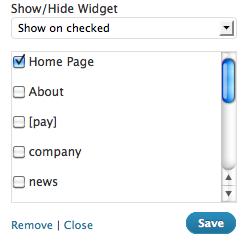 display-widgets
