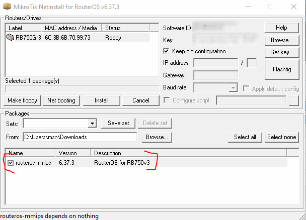 netinstall packages