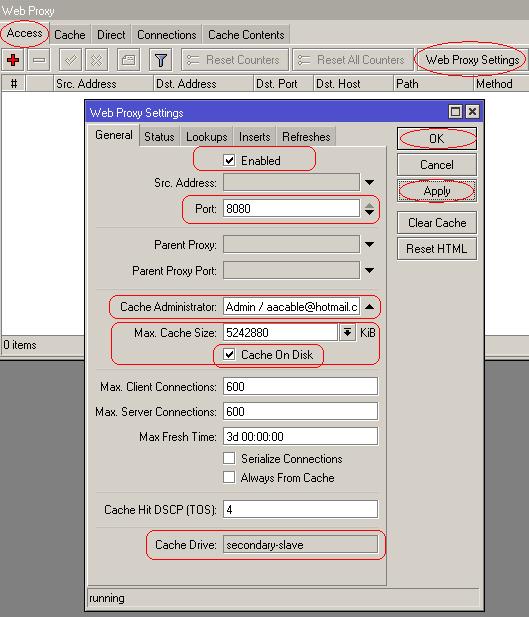 mikrotik webproxy settings
