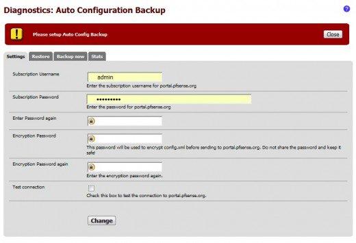 Automatic Backups pfsense