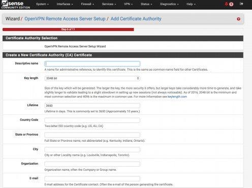 Creating a Certificate Autority