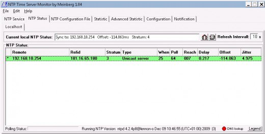 Meinberg NTP Client for Windows