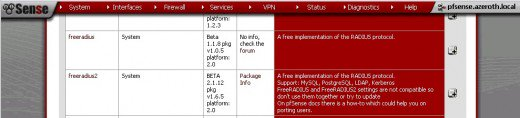 كيفية إعداد خادم Radius على pfSense باستخدام حزمة FreeRadius2