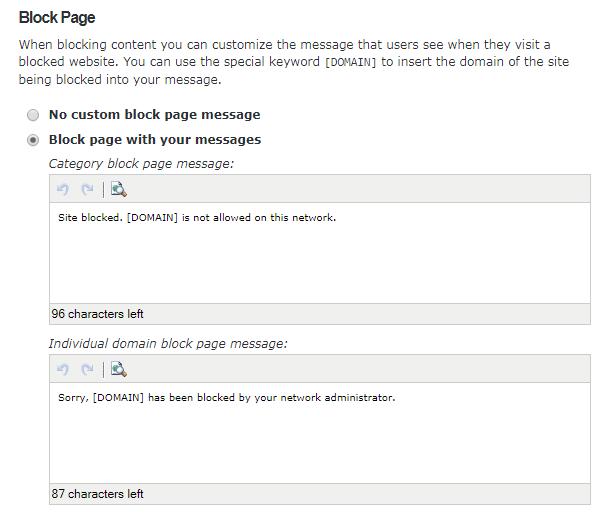 صفحة حظر المحتوى المحظور