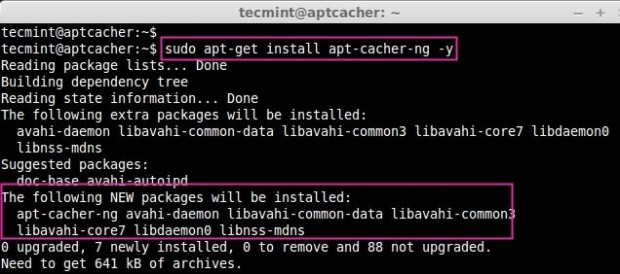 """إعداد خادم Apt-Cache باستخدام """"Apt-Cacher-NG"""" في خادم Ubuntu 14.04"""
