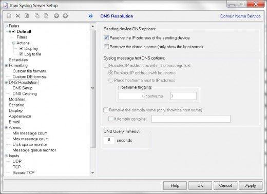 Kiwi server settings
