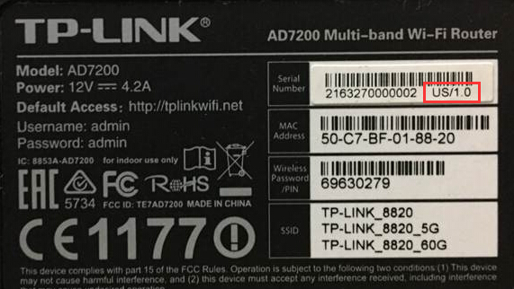 How to find the hardware version tp-link