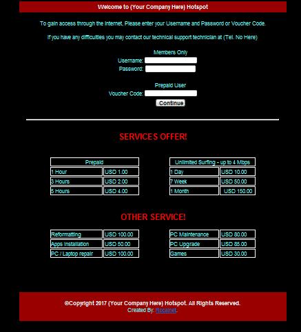 تخصيص صفحة تسجيل الدخول للمشتركين في الشبكة على PFsense