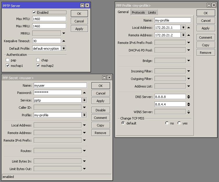 كيفية إعداد PPTP Server على الميكروتك - شرح مبسط مدعم بالصور والسكربتات