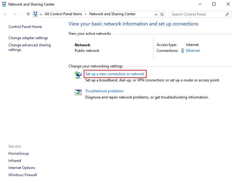 setup PPTP VPN on Windows 10 Client PC