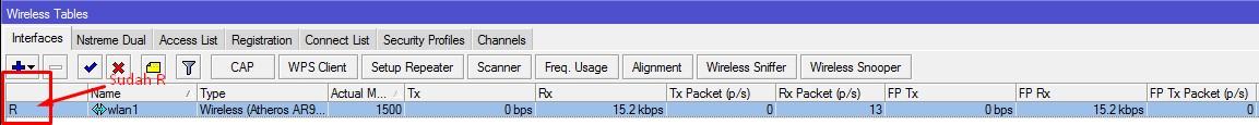 مشاركة الاتصال اللاسلكي في ميكروتيك التي لها Wireless Interface واحدة فقط