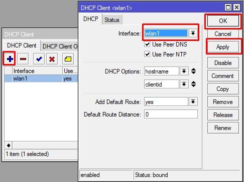 DHCP CLIENT