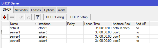 DHCP servers