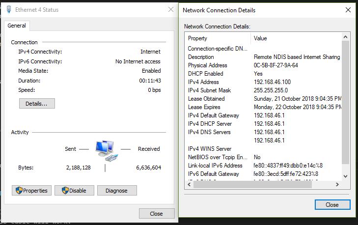 windows network interface