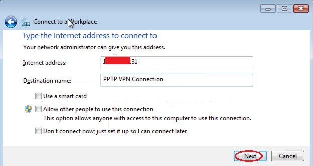 Public IP address or hostname