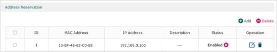 Reserve the IP Address for PC A