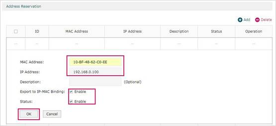 Wake On LAN) on TP-Link SafeStream Router7