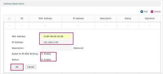 Wake On LAN) on TP-Link SafeStream Router7