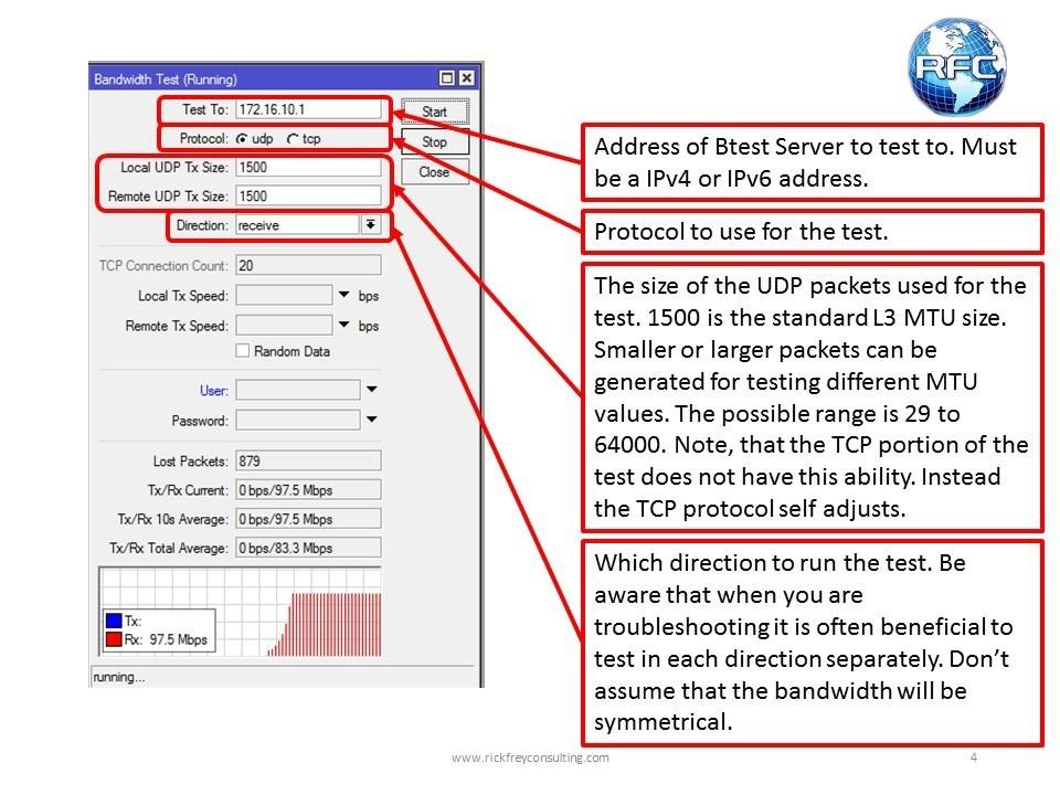Bandwidth Test Tool