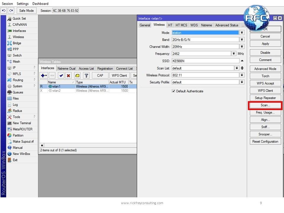WLAN Scanner اداة مهمة في سيرفر الميكروتك تعرف على استخداماتها