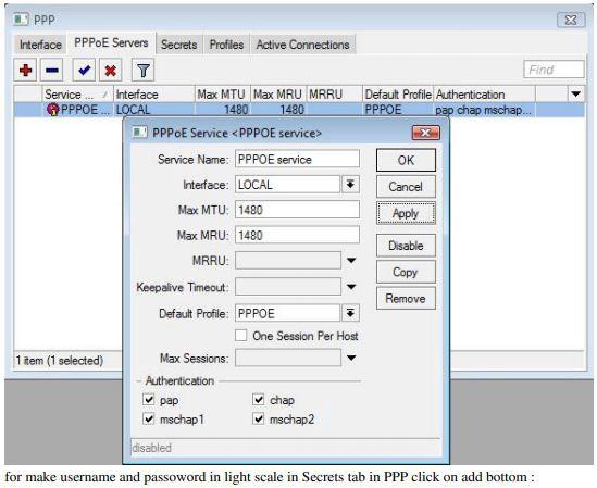 PPPoE Server Configuration