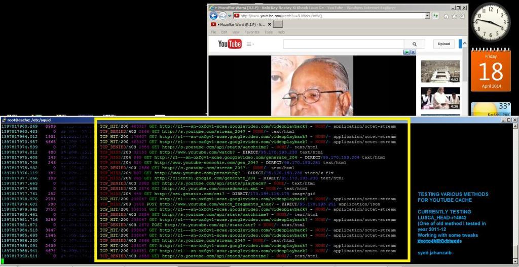 التخزين المؤقت لليوتيوب مع SQUID / LUSCA وتجاوز ملفات الفيديو المخبأة من Mikrotik Queue