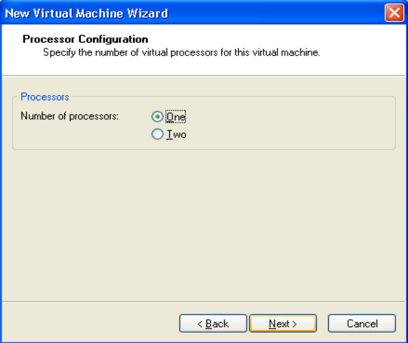 processor-type in vmware