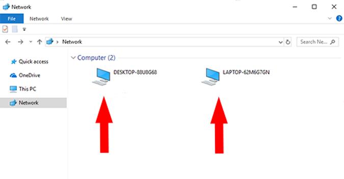 مشاركه ونقل الملفات بين جهازين كمبيوتر او لابتوب