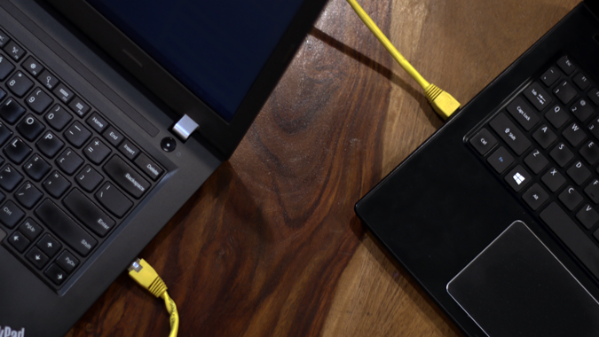 كيفية ربط جهازين عن طريق كيبل ونقل الملفات