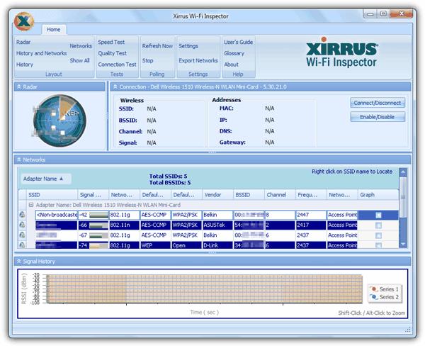 Xirrus Wi-Fi Inspector tool